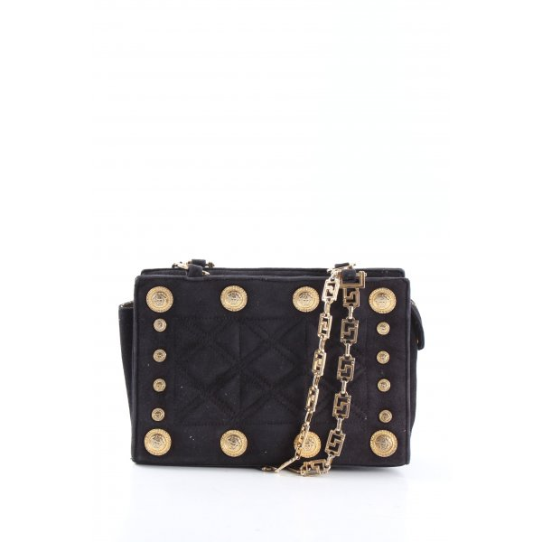 augustus couture Minitasche schwarz-goldfarben Elegant