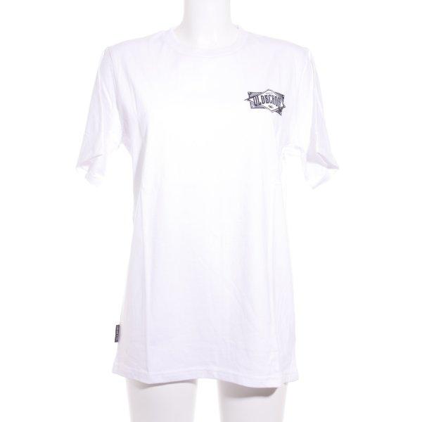 Unfair Athletics T-Shirt weiß-schwarz Schriftzug gedruckt sportlicher Stil