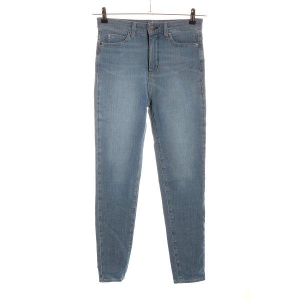 Uniqlo Skinny Jeans blau Jeans-Optik