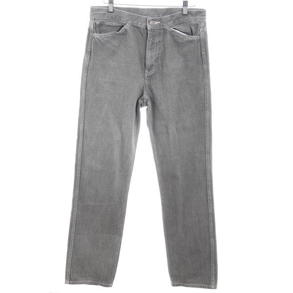 Uniqlo Straight-Leg Jeans grüngrau Casual-Look