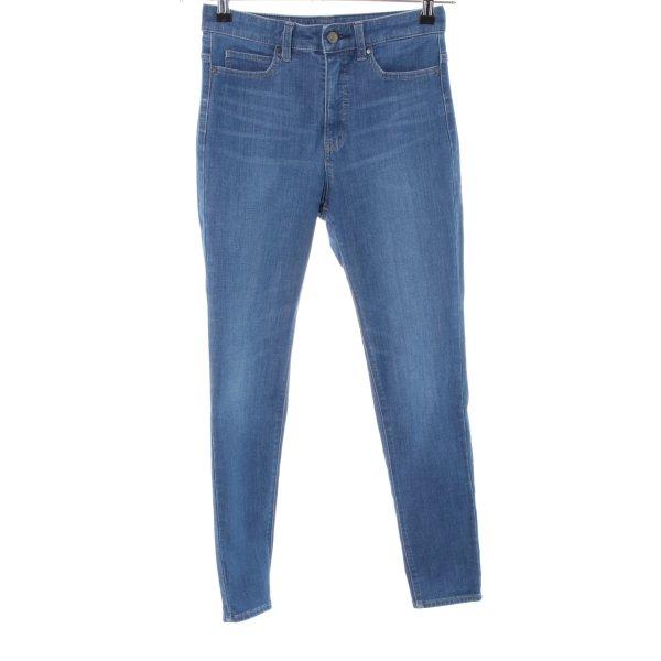 Uniqlo Stretch Jeans blau Casual-Look