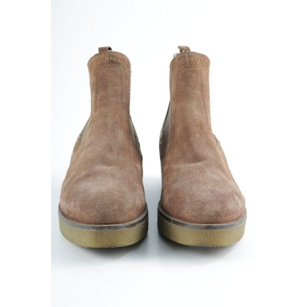Unisa Chelsea laarzen beige-lichtbruin casual uitstraling