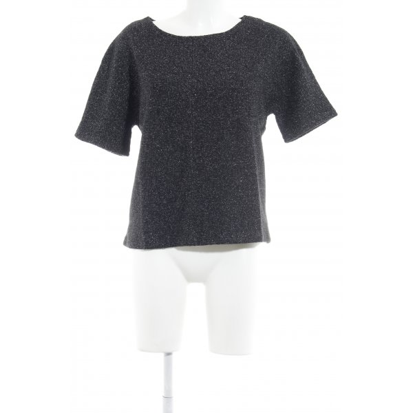 UNQ Strickshirt schwarz-silberfarben Elegant