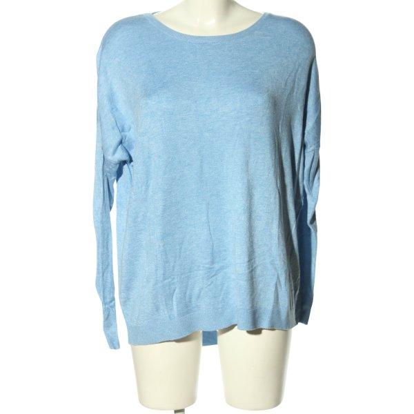 UpFashion Rundhalspullover blau meliert Casual-Look