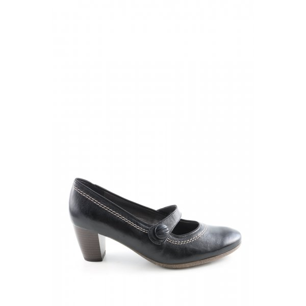 VA Milano Mary Jane Pumps schwarz-weiß Casual-Look