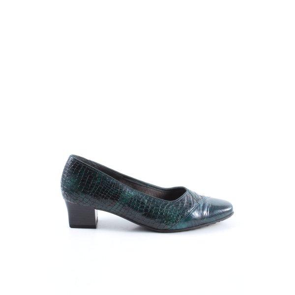 VA Milano Trotteur grün-schwarz Allover-Druck extravaganter Stil