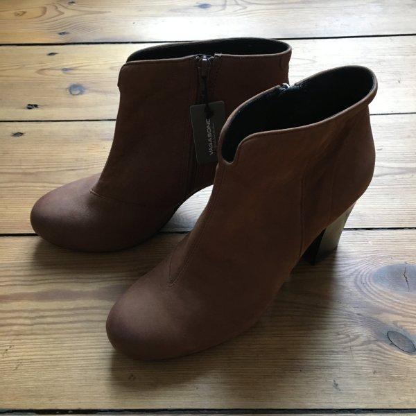 Vagabond NEU Pistol boots Ankle leather booties Stiefeletten echt Leder braun Cognac stiefel