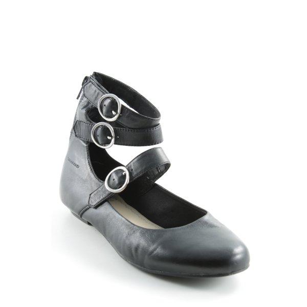 Vagabond Riemchen Ballerinas silberfarben-schwarz klassischer Stil
