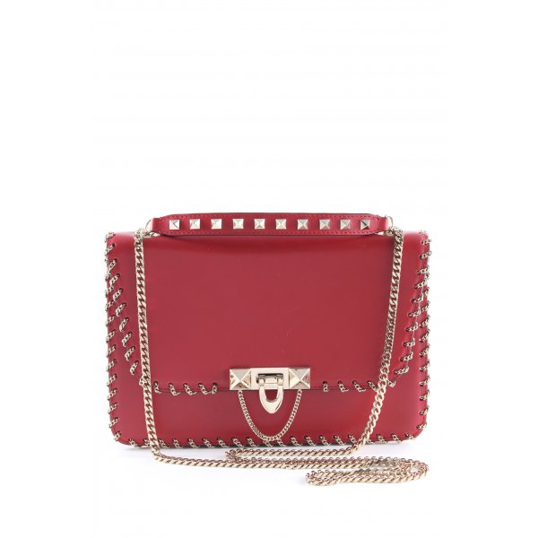 "Valentino Handtasche ""Demilune Small Leather Bag Rosso"" rot"