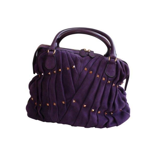 Valentino Maison Rockstud Tasche aus lila Wildleder