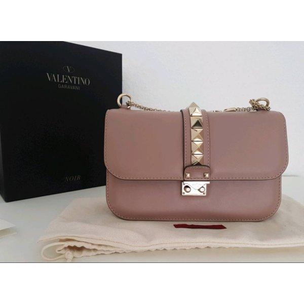 Valentino Rockstud Glam Lock Medium Tasche Poudre