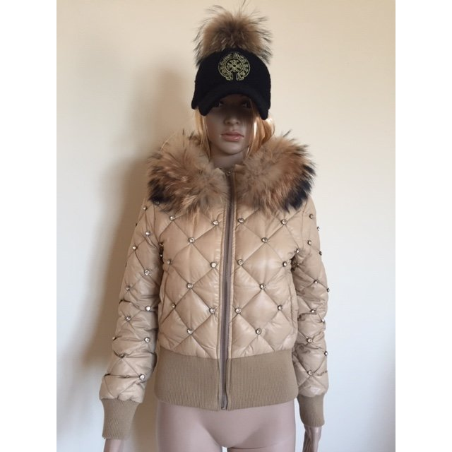 VDP down jacket with fox fur