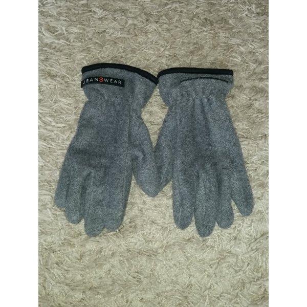 Guantes con dedos gris