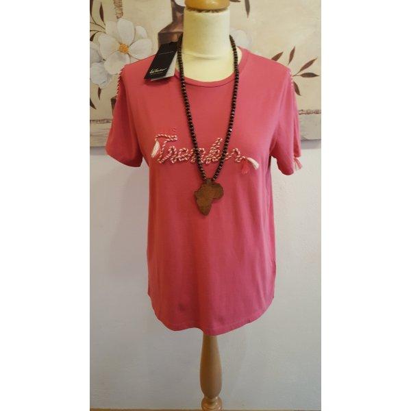 Luis Trenker T-shirt rouge framboise-magenta