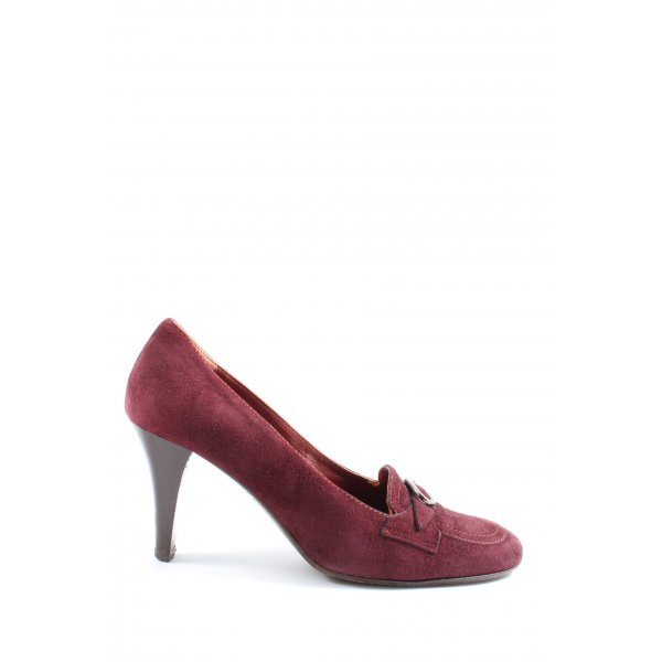 Vero Cuoio High Heels rot Casual-Look