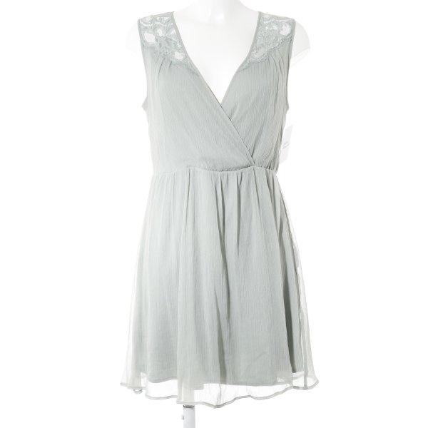 Vero Moda A-Linien Kleid graugrün Romantik-Look