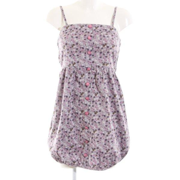 Vero Moda Ballonkleid lila-pink Blumenmuster Casual-Look