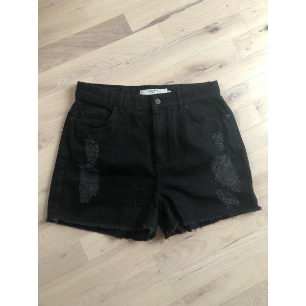 Vero Moda Denim Jeans Shorts schwarz