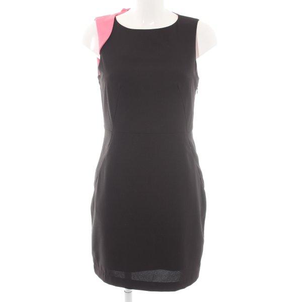 Vero Moda Etuikleid schwarz-pink Business-Look