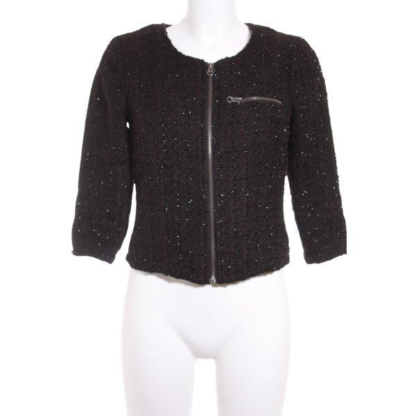 Vero Moda Kurzjacke schwarz-silberfarben Elegant