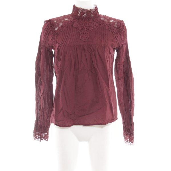 Vero Moda Langarm-Bluse rot Elegant