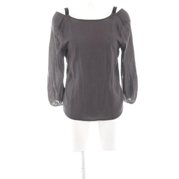 Vero Moda Langarm-Bluse hellgrau Business-Look