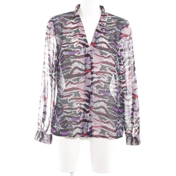 Vero Moda Langarm-Bluse abstraktes Muster Casual-Look