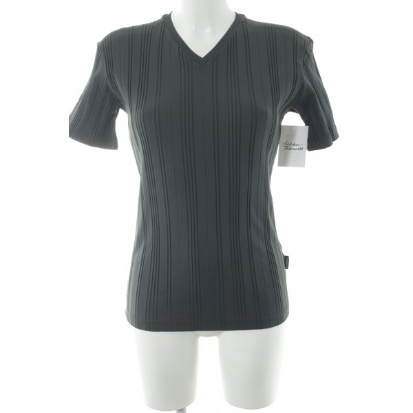 Versace Jeans Couture T-Shirt grau Streifenmuster Casual-Look
