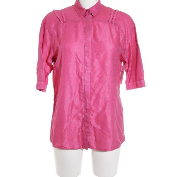 Versace Jeans Kurzarm-Bluse pink schlichter Stil