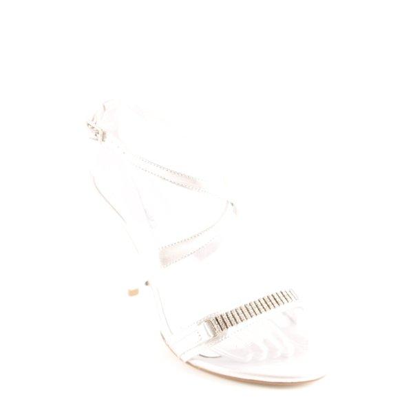 Via uno High Heel Sandaletten silberfarben Elegant