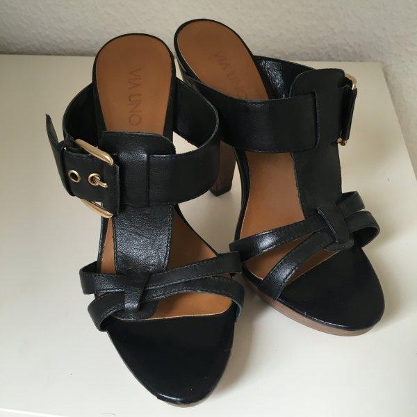 Via uno High Heel Sandal black leather