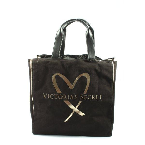 Victoria's Secret Stofftasche schwarz-goldfarben Casual-Look