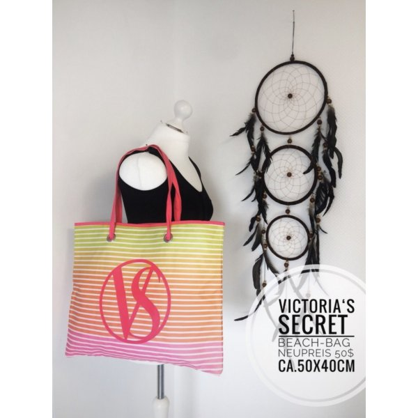 Victoria's secret Tasche Beach Bag Strand New York vintage blogger boho pink shopper Umhängetasche Accessoires Festival
