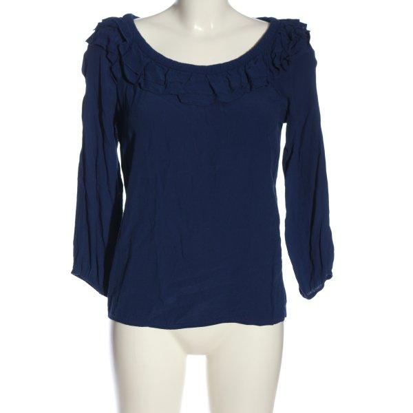 Vila Clothes Langarm-Bluse blau Casual-Look