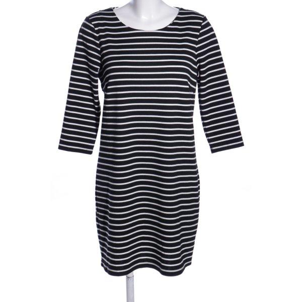 Vila Minikleid schwarz-weiß Allover-Druck Casual-Look