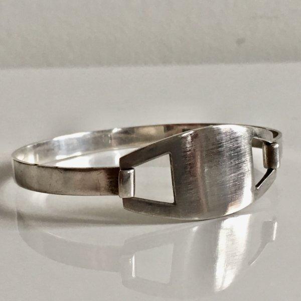 Vintage 925 Sterling Silber Armband Silberarmreif Klappspange Minimalist Armreif Silberarmband MUST HAVE