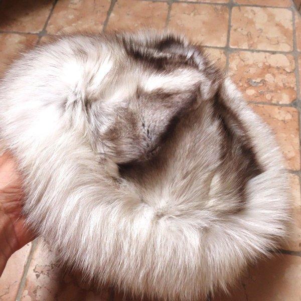 Vintage Blaufuchs Pelzmütze, Kappe, sehr schöne Pelzmütze, echtes Fell, wenig getragen, TOP Zustand, innen gefüttert mit grauem Satin, sehr warm, edel, hochwertig, Luxus, Größe 55-56 cm