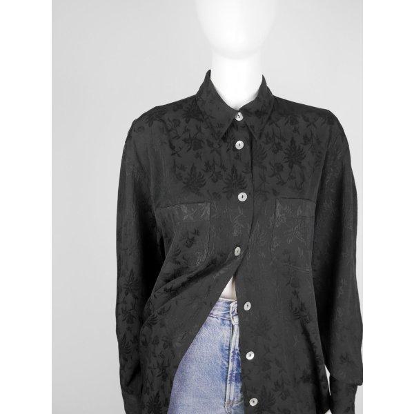 Vintage Bluse mit floralem Allover-Muster