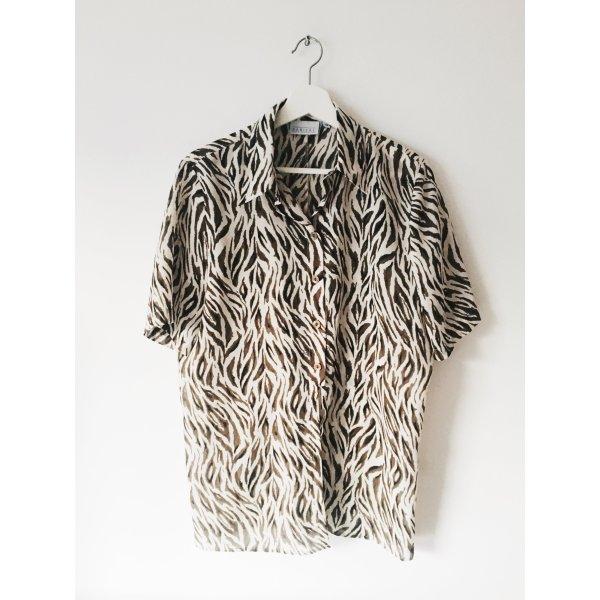 Vintage-Bluse mit Print