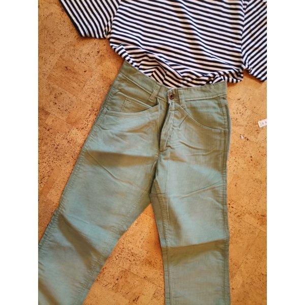 Vintage Spodnie sztruksowe szaro-zielony