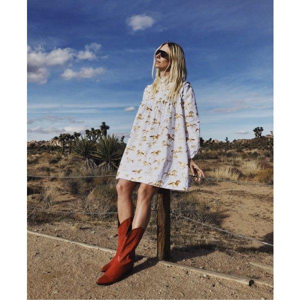 Vintage Cowboy Boots aus New York 9,5 in Rot Lederstiefel 40 Westernstiefel