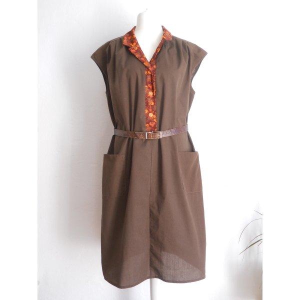 Vintage Kleid im Schürzen-Stil Kittelkleid Gr. 48