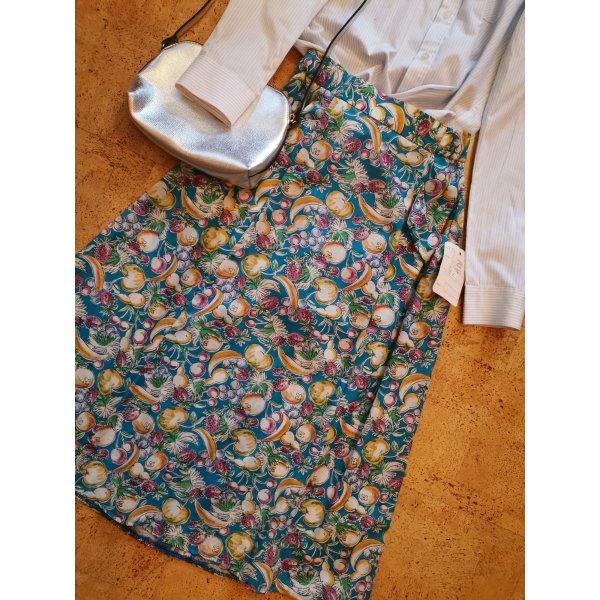 Vintage Spódnica z wysokim stanem Wielokolorowy