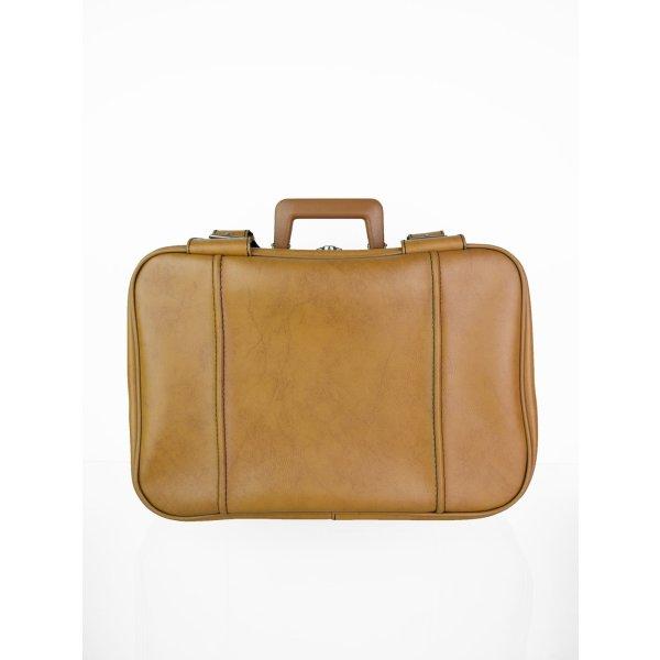 Koffer cognac-zilver