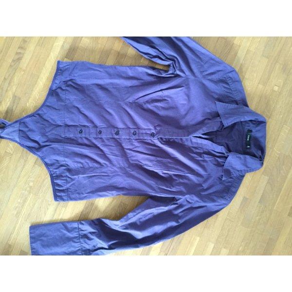 Zero Blusa tipo body violeta grisáceo Algodón