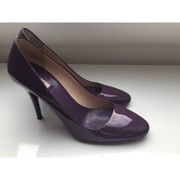 violette Lack-Pumps von Prada