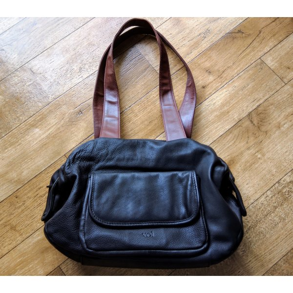 voi Carry Bag black-rose-gold-coloured leather