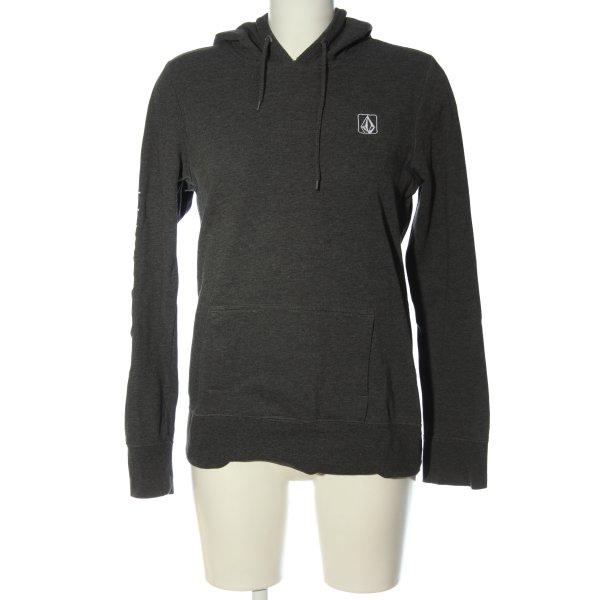 Volcom Kapuzensweatshirt schwarz meliert sportlicher Stil