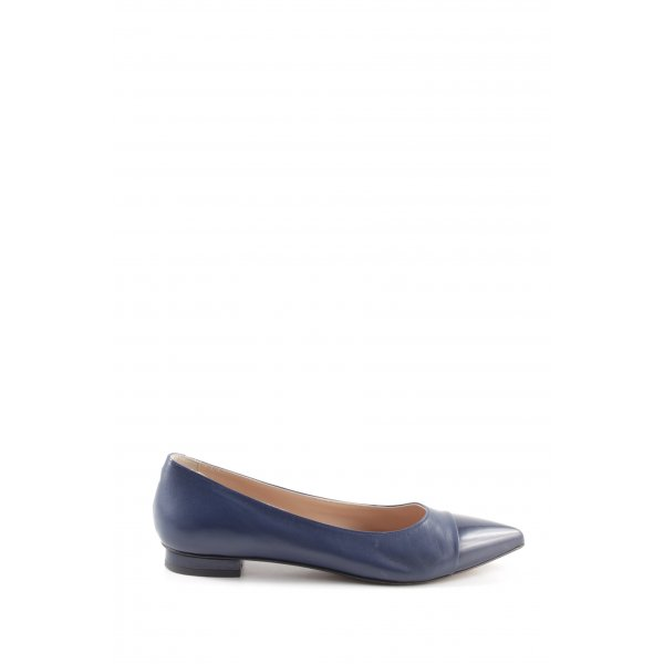 Voltan Ballerinas mit Spitze blau Business-Look