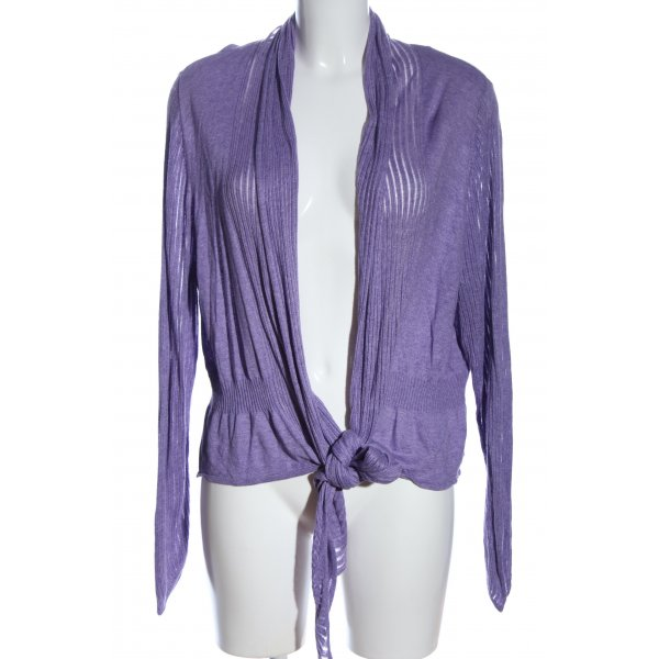 Wallis Strick Cardigan lila meliert Casual-Look